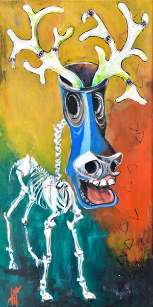 All Jack'd Up | fantasy surrealism | art prints by Tif Choate | Paintings of Vibrancy | Snaiil Candy Art | www.snaiilcandy.com | Jackalope art