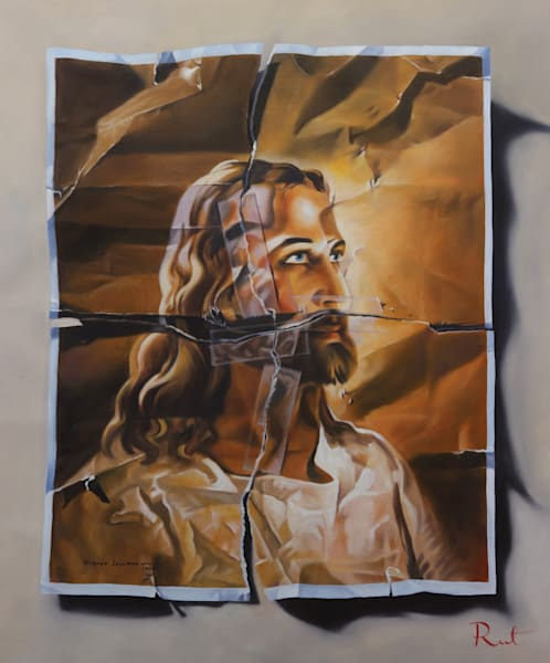 Tomasz Rut Fine Art | Pop Realism | Head of Christ