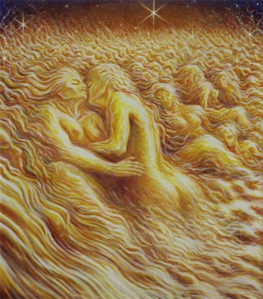 Cloud Lovers original oil painting by Mark Henson