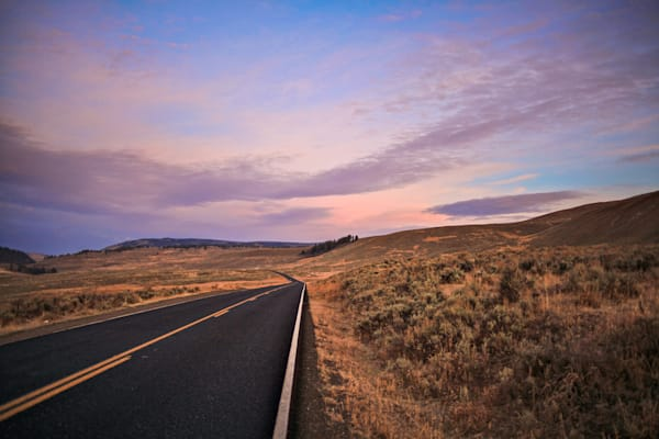 Yellowstone Horizon Sunset | Sunset Photography Print