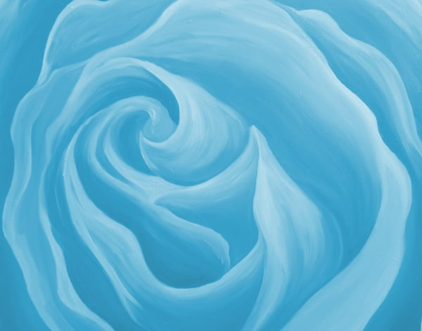 Sky Blue Rose Art | Art By Dana