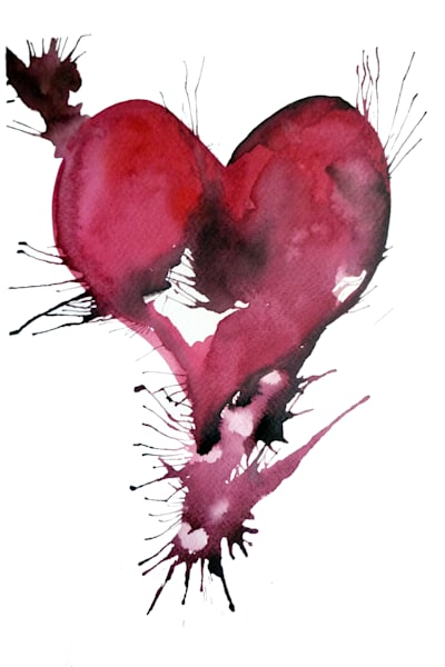 Artwork of a red heart