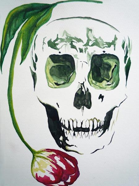Artwork of skull and Rose