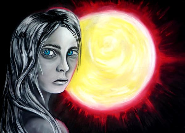 The Red Sun Art | Art By Dana