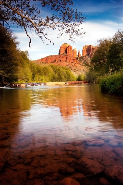 Reflections of Cathedral Rock print, Jim Parkin Fine Art Photography