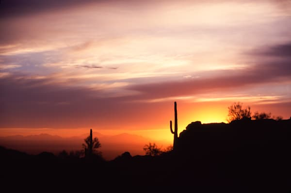 Desert Sunset print, Jim Parkin Fine Art Photography