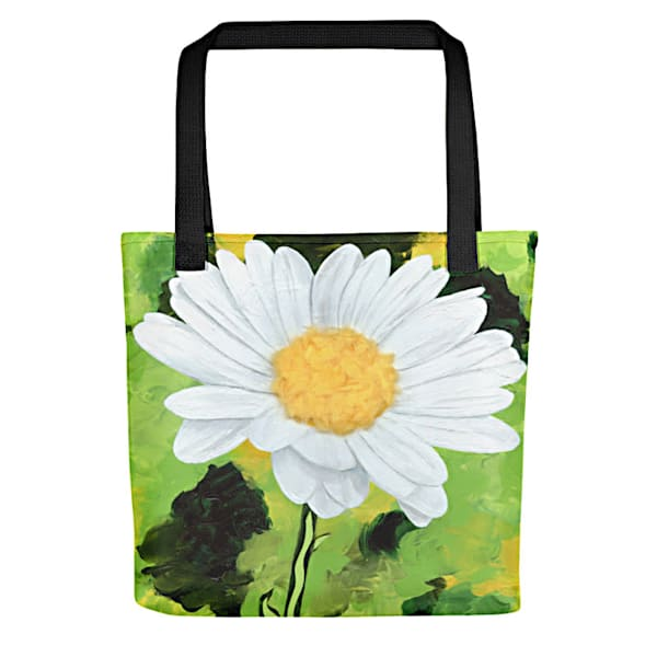 Stylish, colorful tote bags with original artwork by Mary Anne Hjelmfelt printed on them.