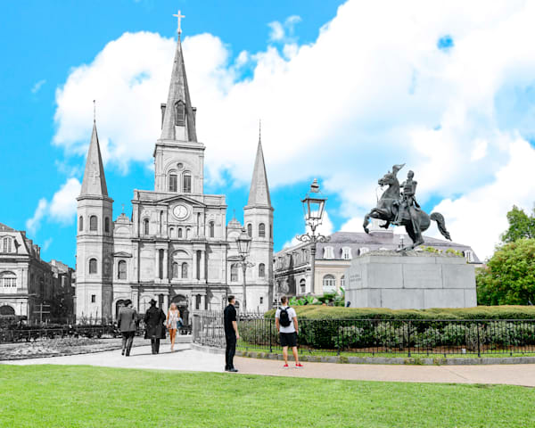 Jackson Square, Cathedral Of St. Louis Art | Mark Hersch Photography