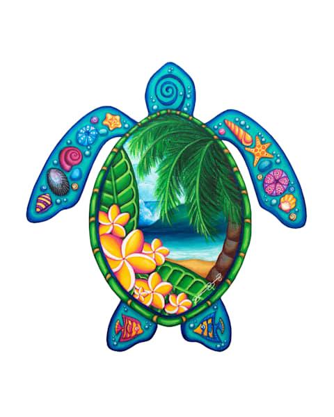 Hawaii Art   Paradise Honu by Stephanie Boinay