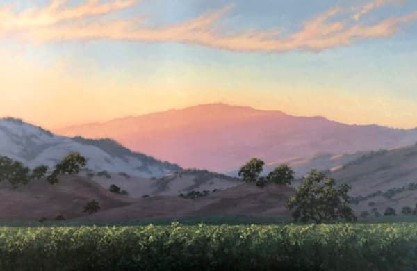 Alexander Valley View original oil painting by Terry Sauvé