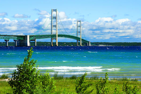 Mackinac Bridge Postcard - Michigan Photos | William Drew