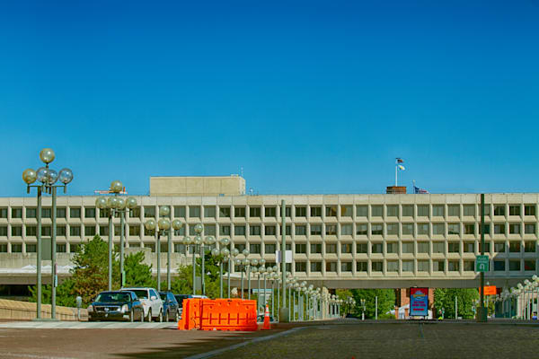 A Fine Art Photograph of L'Enfant Plaza During the Morning by Michael Pucciarelli