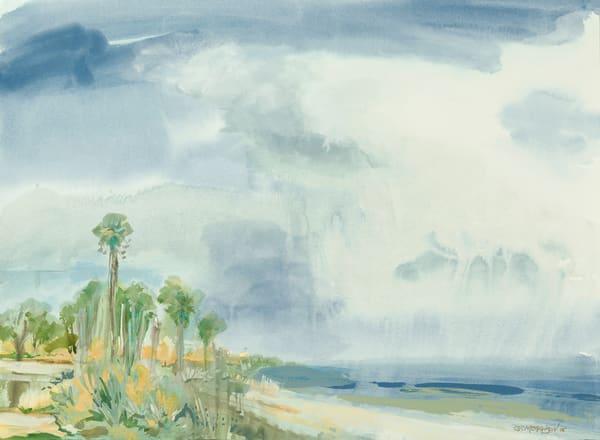 Rain Offshore | Watercolor Landscapes | Gordon Meggison IV