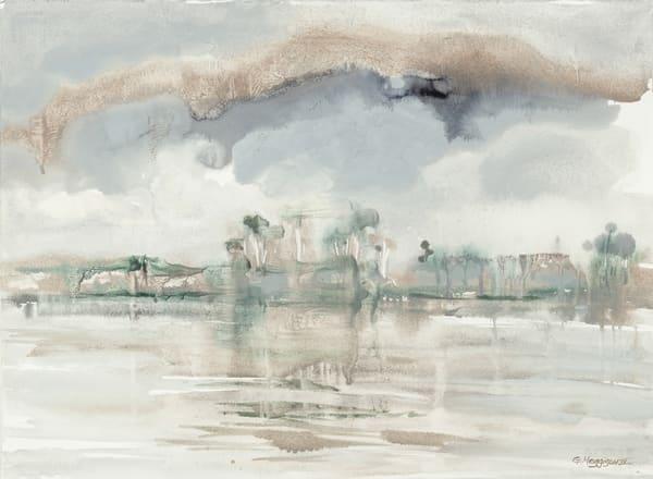 Storm Over Matanzas Inlet | Watercolor Landscapes | Gordon Meggison IV