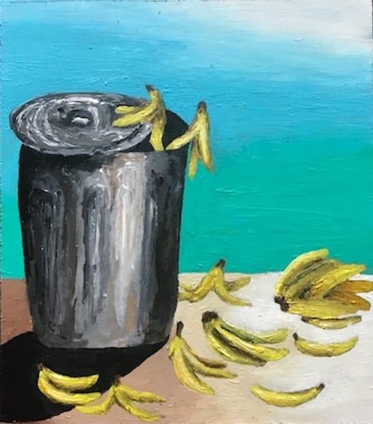 trash can bananas