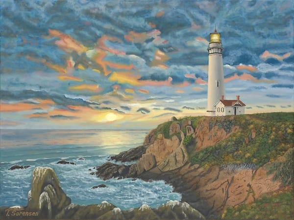18x24 Lighthouse On Paper  Art | HFA print gallery