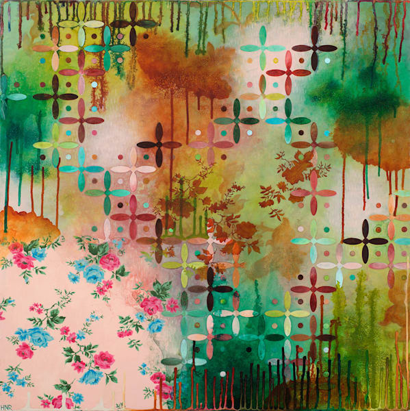Attraction, Abstract Pattern Art and Paintings by Heather Robinson