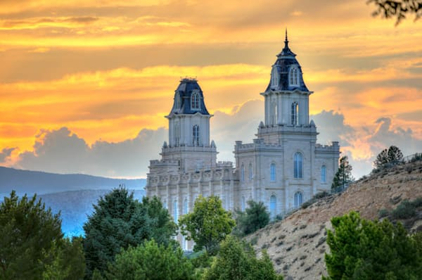 Manti Temple - View Over the Hill
