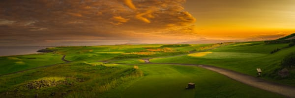 Keilir Golf Club, Reykjavik, Iceland - Panorama of the Back Nine, 1
