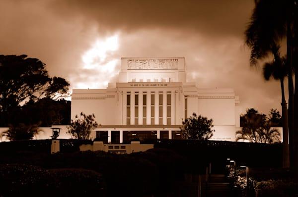 Laie Temple - Sepia