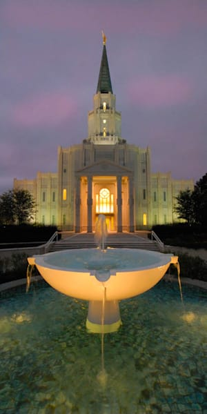 Houston Temple - Panoramic Water Fountain