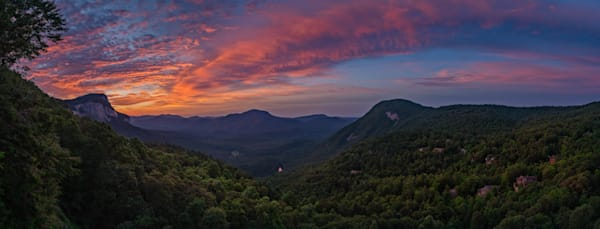The Cullasaja Club, Highlands, North Carolina - Overlook Panorama at Dawn