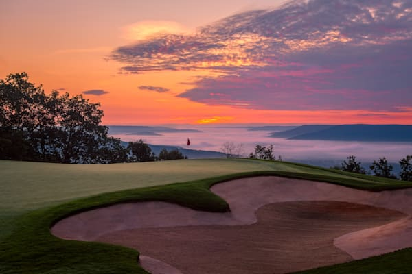 The Ledges, Huntsville, Alabama - 14th Hole at Blue Hour