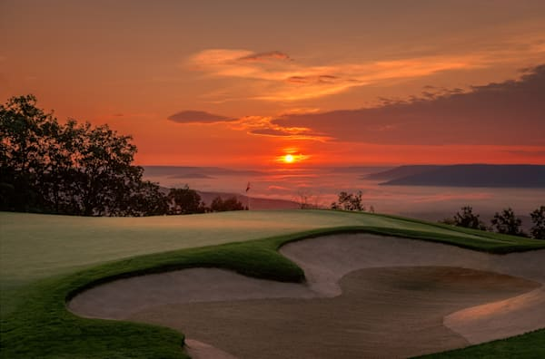 The Ledges, Huntsville, Alabama - 14th Hole at Dawn