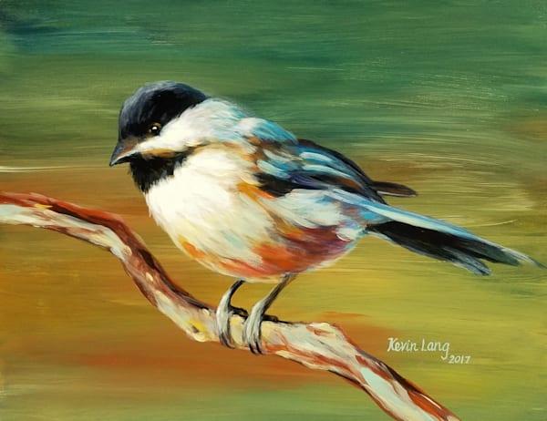 Evening Glow Chickadee Art | Kevin Lang Fine Art