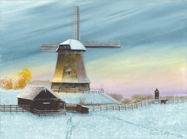 Windmill At Daybreak Art | Kevin Lang Fine Art