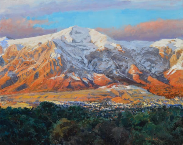 "Print of a painting by Eric Wallis titled, ""Ben Lomond."""