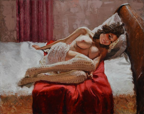Undraped figure art paintings