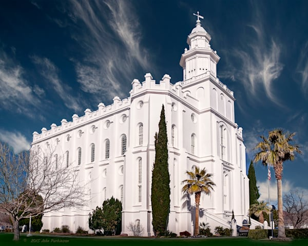 Saint George temple of the Church of Jesus Christ of Latter-day Saints in St George, Utah.