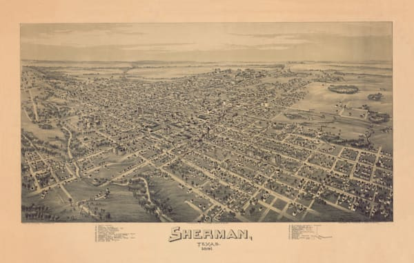 Sherman Map - 1891