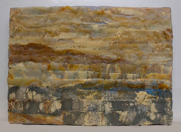 Original abstract encaustic painting
