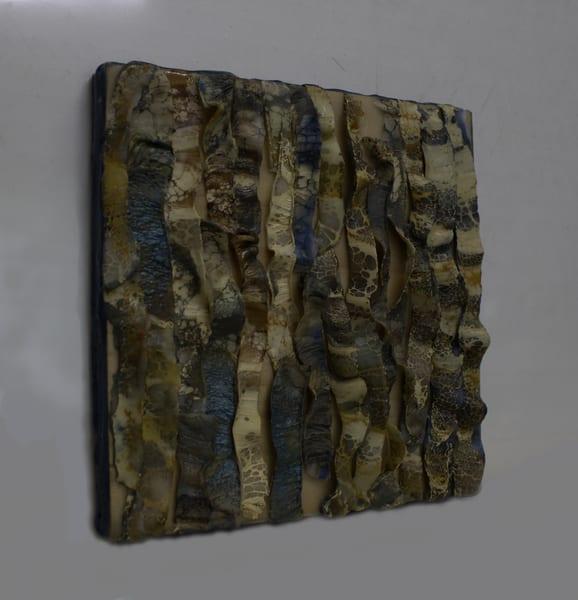 Original encaustic painting of snake skin