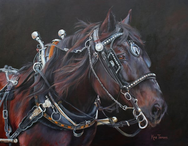 draft horse oil painting for sale