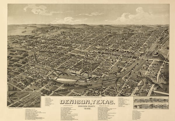 Denison Map   1886 Art | Randy Sedlacek Photography, LLC