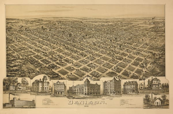 Denison Map   1891 Art | Randy Sedlacek Photography, LLC