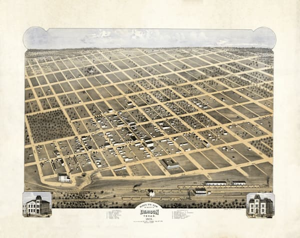 Denison Map   1873 Art | Randy Sedlacek Photography, LLC