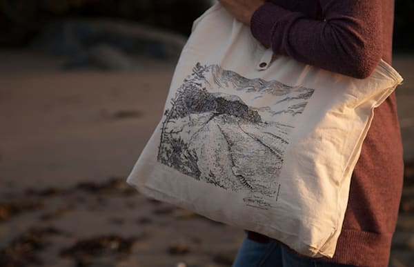Shorties Tote Collab with Sea Level Bakery + Coffee - Illustrated by Spencer Reynolds