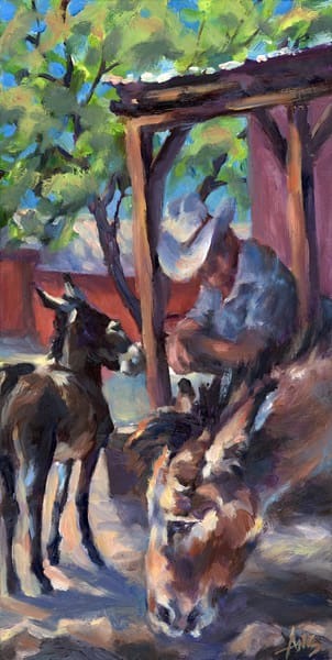 Donkey capital Oatman, Arizona, part 1. Impressionistic mini series of the donkeys in the former mining town by Ans Taylor