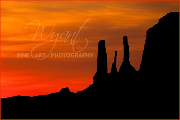 Sunset on Three Sisters:  Shop Fine Art Photography | Jim Wyant, Master Craftsman (317)663-4798