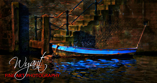 Blue Boat In Europe:  Shop Fine Art Photography | Jim Wyant, Master Craftsman (317)663-4798