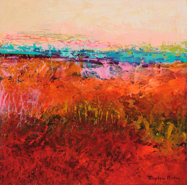 Southwestern Acrylic Abstract Landscape
