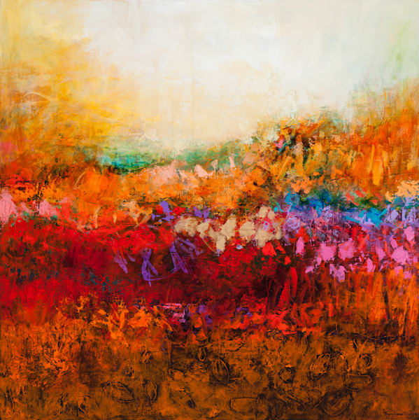 Brilliant Colored Acrylic Abstract Landscape Painting