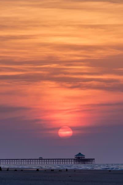 Folly Sunrise Over Pier