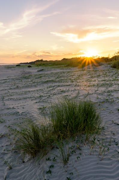 Sullivan s Island Sunset and dunes HDR