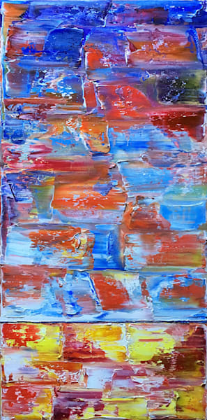 Fire At Sea large abstract painting