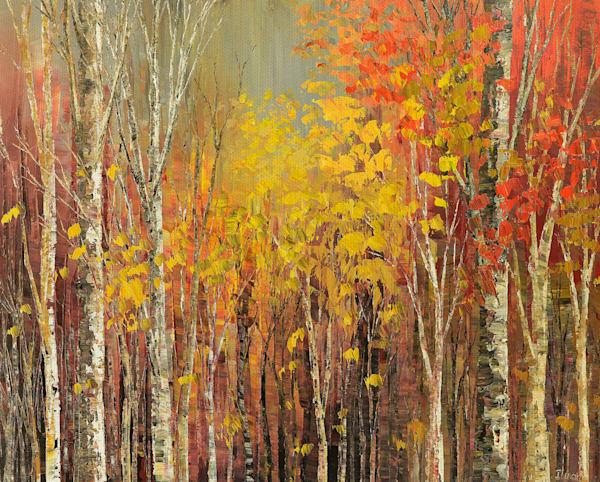 Tangled Colors by artist Tatiana Illina Wrapped Canvas Art Print